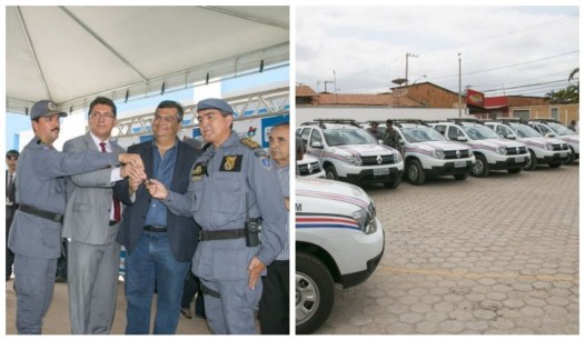 Flávio Dino entrega viaturas em todo o estado. Coelho Neto sempre de fora.
