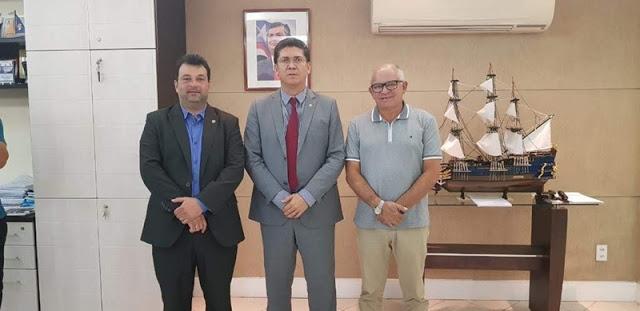 Jorge Oliveira busca investimentos na segurança, saúde e abastecimento de água para Duque Bacelar