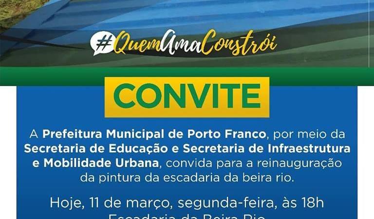 Mico: Prefeito do Maranhão inaugura pintura de escada