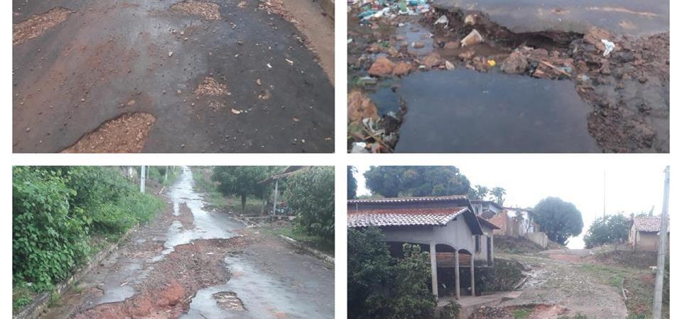Situação caótica de ruas do Bairro Sarney é tema de debate em sessão da Câmara de Coelho Neto