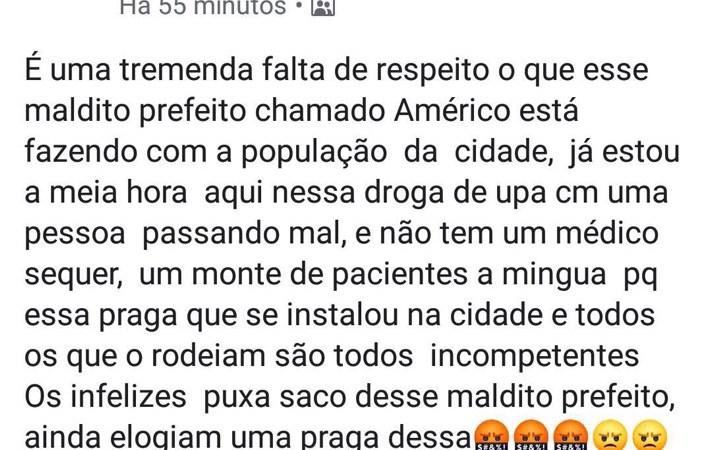 Usuário se revolta com descaso no atendimento da UPA de Coelho Neto