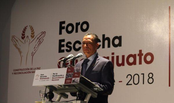 UG, sede del Foro Escucha Guanajuato por la Pacificación y la Reconciliación Nacional