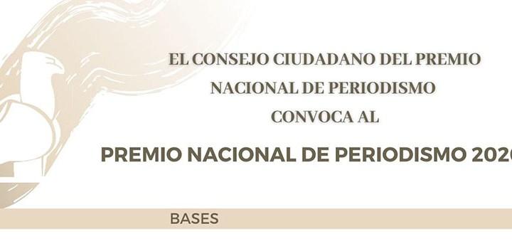 Invitan a participar en el Premio Nacional de Periodismo 2020