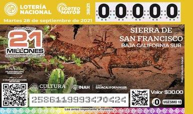 Pinturas rupestres de Baja California Sur se imprimen en billete de lotería