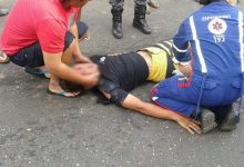 Acidente envolvendo moto e caminhão deixa quatro vítimas em estado grave em Oeiras 19