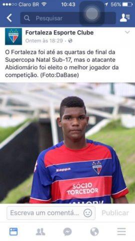 ... de Corrente do Piauí acaba de ser recrutado por olheiros do Palmeiras  Esporte Clube fd6d3916d0b33