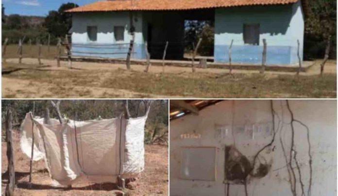 ABSURDO: Pais de alunos improvisam banheiro de lona em escola no Piauí 1