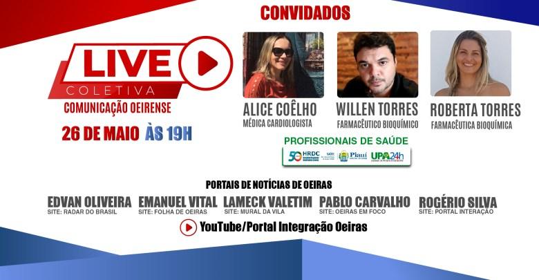 Terceira Live Coletiva de Comunicação Oeirense, nesta terça-feira(26), com profissionais da saúde 1