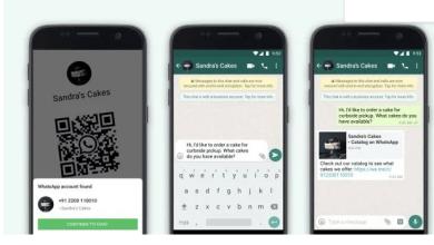 WhatsApp permite que contas empresariais compartilhem informações via QR code 3