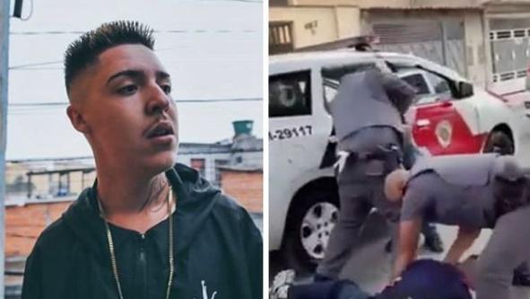 Pancadaria: Salvador da Rima é preso e fortemente agredido por policiais em vídeo que circula na internet. Assista!