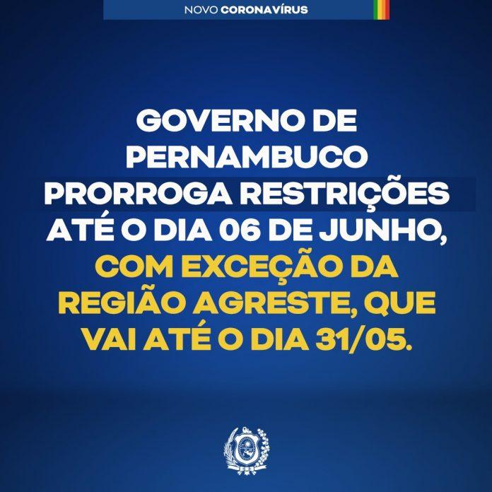 PERNAMBUCO: Governo intensifica restrições para conter aceleração da Covid-19