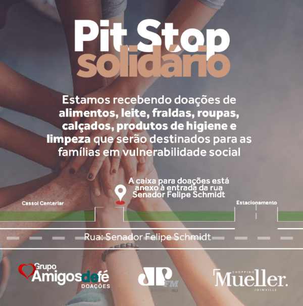 Shopping Mueller promove pit stop solidário