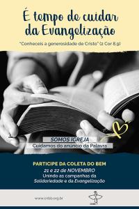 Cartaz da Campanha da Evangelização 2020