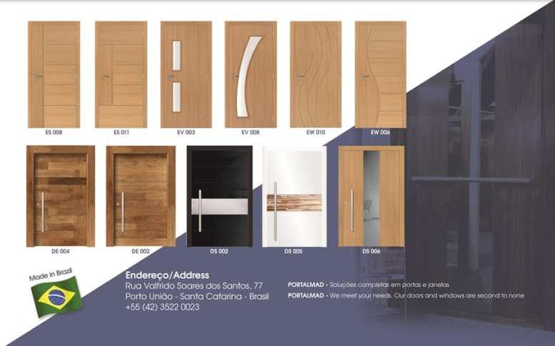Wood Doors Brasil - Export - High-end - Portas de madeira para exportação