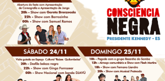 Confira a programação da Festa da Consciência Negra em Cacimbinha, Presidente Kennedy