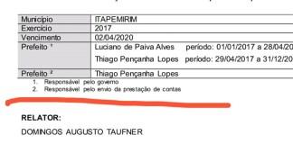 NOTA DE ESCLARECIMENTO DO PREFEITO LUCIANO DE PAIVA ALVES