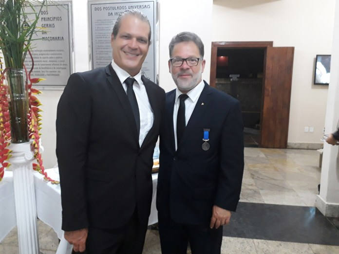 Ricardo Lemos e Carlos da Marinha - Loja Maçônica Vale do Itapemirim
