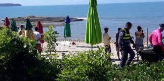 Corpo é encontrado boiando na praia de Itaoca, em Itapemirim