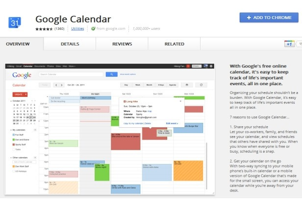 Google Calendar offline