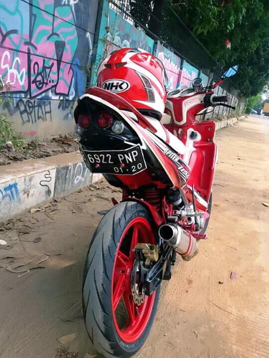 Modifikasi Motor Jupiter Z1 Warna Merah : modifikasi, motor, jupiter, warna, merah, Jupiter, Merah, Modif, Monoshock, Detail, Braket, Rider, Ndeso94, (dot)