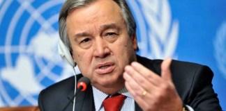 António Guterres critica as atitudes de Trump