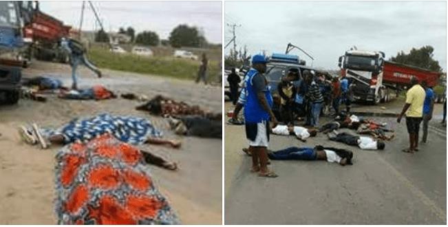 O sinistro aconteceu na zona de Tchumene em Maputo envolvendo um semi-colectivo de passageiros e um camião. acidente
