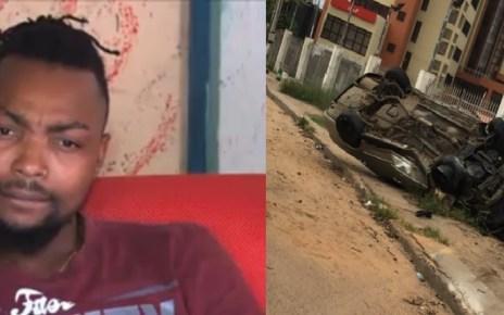 O carro do cantor moçambicanoMistake,vencedor da primeira edição do Big Brother Angola e Moçambique, capotou mais uma vez neste fim de semana