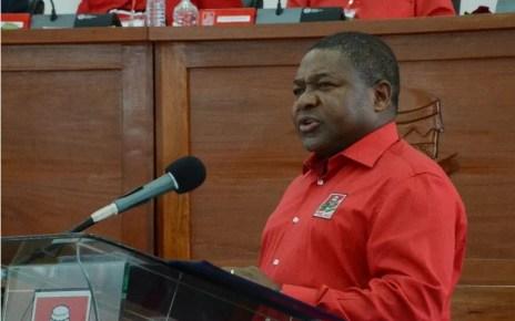 O presidente do partido Frelimo, Filipe Jacinto Nyusi, se pronunciou hoje sobre os resultados da eleição intercalar de Nampula, concretamente