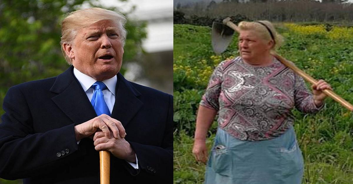 Uma mulher espanhola de 60 anos está a tornar-se famosa na Internet devido às semelhanças físicas com o presidente dos Estados Unidos, Donald Trump