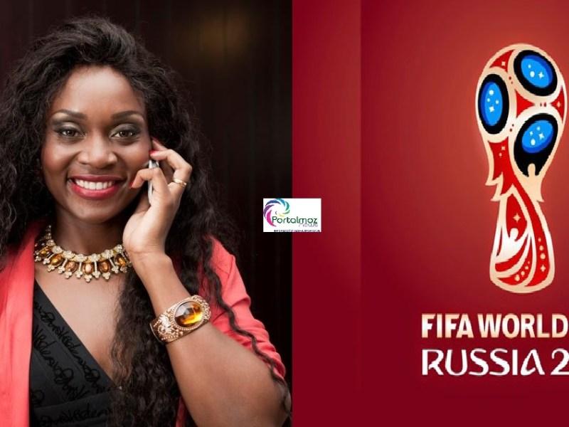 Lizha Jamesnão para de surpreender! A cantora revelou hoje (20), a sua participação na versão da música oficial da Coca-Cola da Copa do Mundo