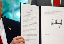 No decreto presidencial, Trump mandou o Departamento de Defesa tomar as medidas para acolher as da forma necessária.