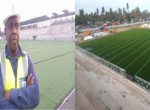 Arrancou no dia 04 de Julho com sucesso a montagem da relva sintética oriunda da Europa, aliais, diga-se que, já é uma realidade no Estádio Municipal da Beira