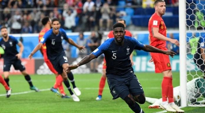 A França venceu a Bélgica, por 1-0, golo solitário de Umtiti, ao minuto 51, e carimbou o passaporte para a final de Moscovo