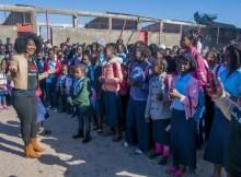 A cantora Marllen deverá em breve apoiar a reabilitação da Escola Primária de Chibutuine, na Manhiça, destruída parcialmente por um vendaval ocorrido em 2016