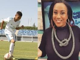Kayane Taimo, filho da apresentadora Eunice Andrade, está a ter a oportunidade de aprender técnicas futebolísticas no acampamento da Fundação Real Madrid
