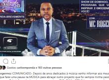 O anúncio foi feito pelo próprio músico por meio de uma publicação no instagram. Depois de ter passado pela TVE, TVM e RTP África, e posteriormente ter feito uma pausa para dedicar-se à música MC anuncia o seu regresso às telas.