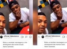 Alguns internautas supostamente revoltados, proferiram ameaças a Fábio Dance, após a divulgação de um vídeo em que o artista é visto com Guyzelh Ramos