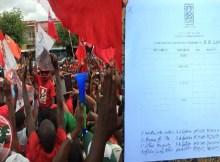 Um membro do partido Frelimo, cuja identidade omitimos por presunção de inocência, foi flagrado na manha deste sábado (07), na cidade de Nampul