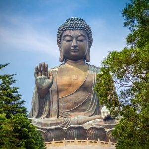 Dr Corvalan - Giant Buddha Statue in Tian Tan. Hong Kong, China