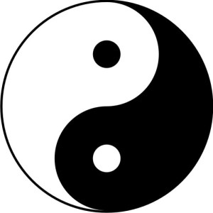The Yin Yang symbol in Chinese philosophy describes how apparently contradictory opposites are actually complementary and interconnected in wholeness.