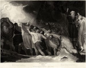 The shipwreck in The Tempest