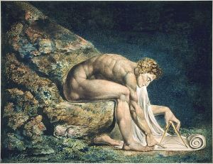 "William Blake's ""Newton,"" illustrating his opposition to single-minded materialism."