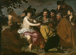 """The Drunks (Baccus Triumph)"" by artist Diego Velazquez, painted in 1629, representing the Dionysian"