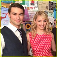 chace-crawford-dianna-agron-glee-100th-episode-set-photo
