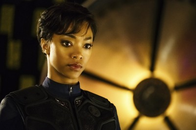 Pictured: Sonequa Martin-Green as First Officer Michael Burnham. STAR TREK: DISCOVERY coming to Netflix. Photo Cr: Jan Thijs © 2017 CBS Interactive. All Rights Reserved.