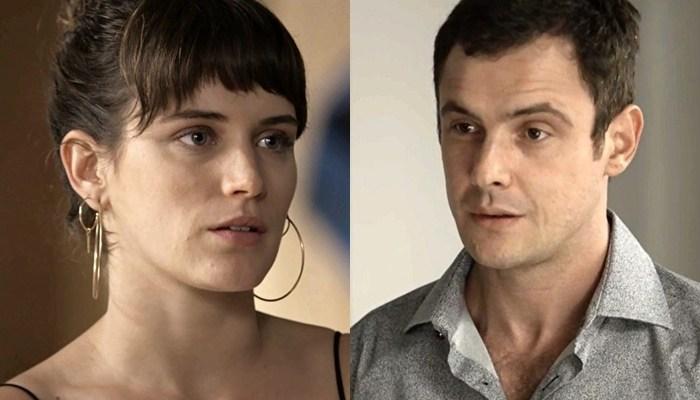 Clara (Bianca Bin) e Gael (Sérgio Guizé) em O Outro Lado do Paraíso