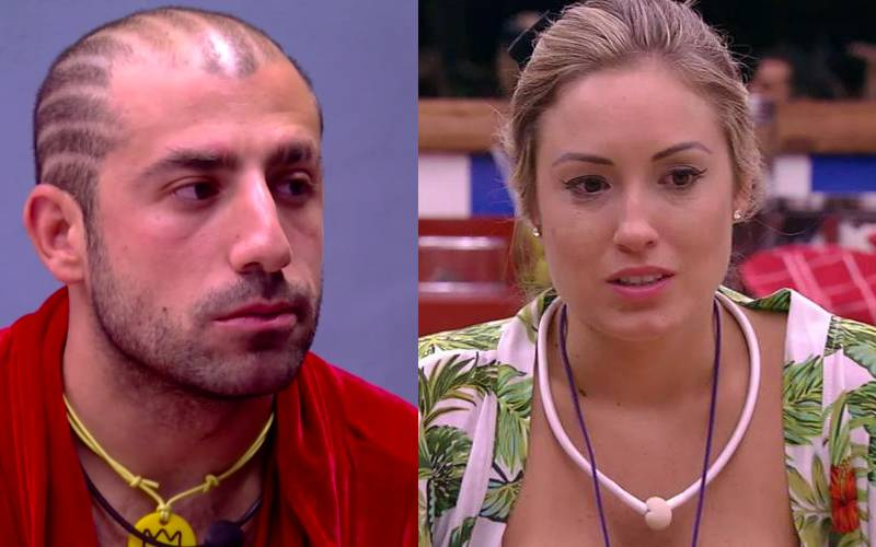 Jéssica e Kaysar se enfrentam no paredão (Reprodução/Globo)