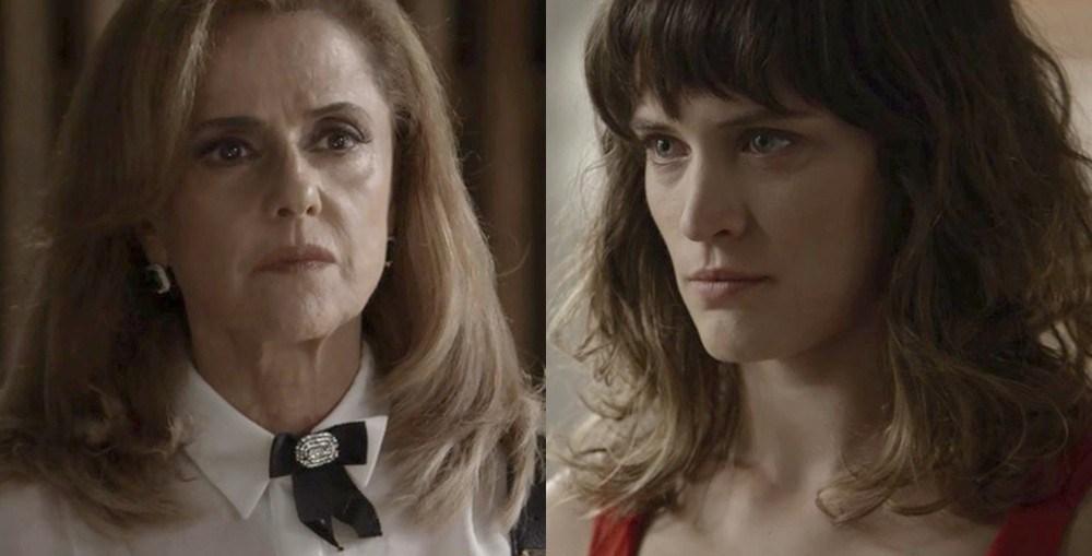 Clara coloca Sophia no hospício em O Outro Lado do Paraíso (Reprodução/Globo)