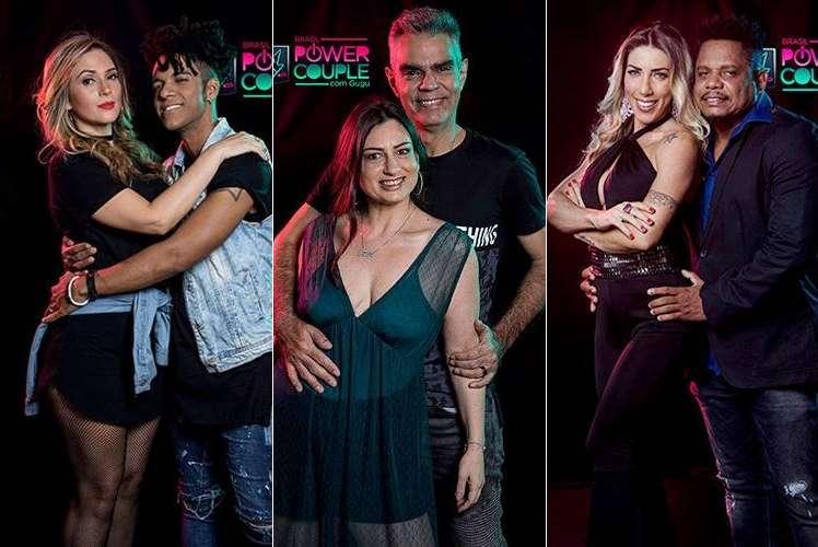 D'Black e Nadja, Tatí e Nizo e Tati Minerato e Marcelo Galáctico estão na DR desta semana do Power Couple Brasil (Reprodução/Record)