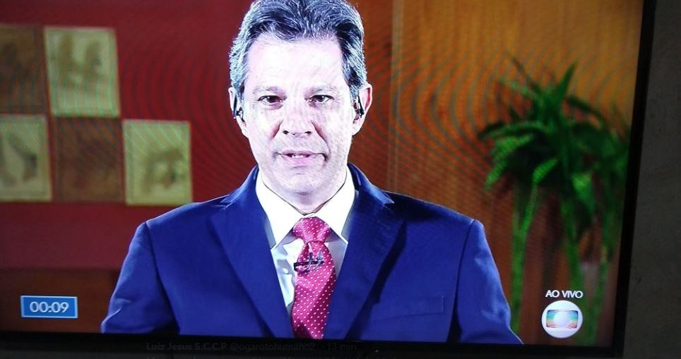Haddad é entrevistado por William Bonner